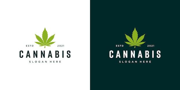 Logo de feuille de marijuana de cannabis