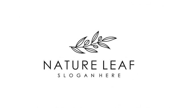 Logo feuille minimaliste