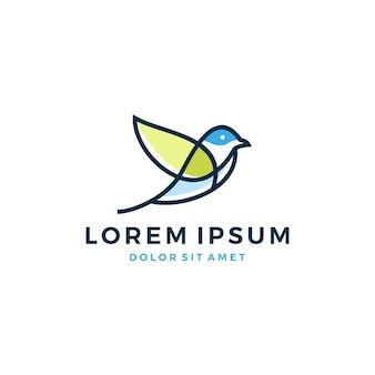 Logo de feuille d'oiseau