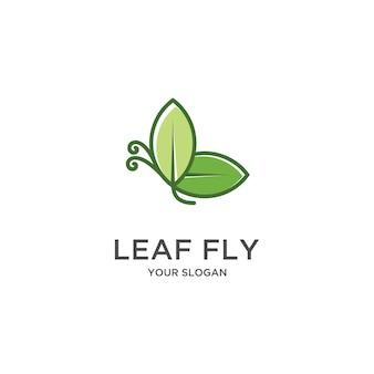 Logo de feuille de papillon