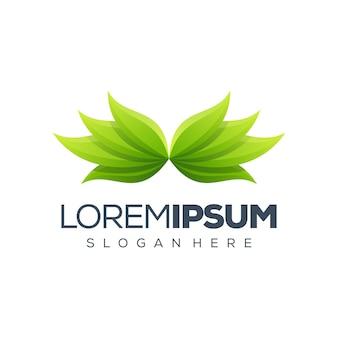Logo feuille premium