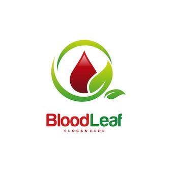 Le logo de feuille de sang conçoit le vecteur de concept, le modèle de conceptions de logo de donneur, le concept de conception, le logo, l'élément de logotype pour le modèle