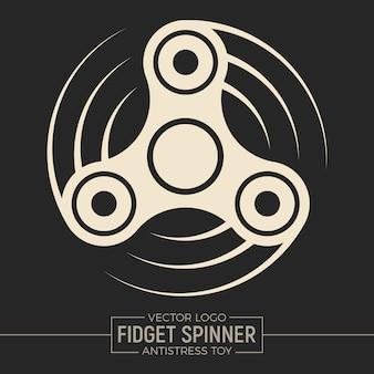 Logo fidget spinner