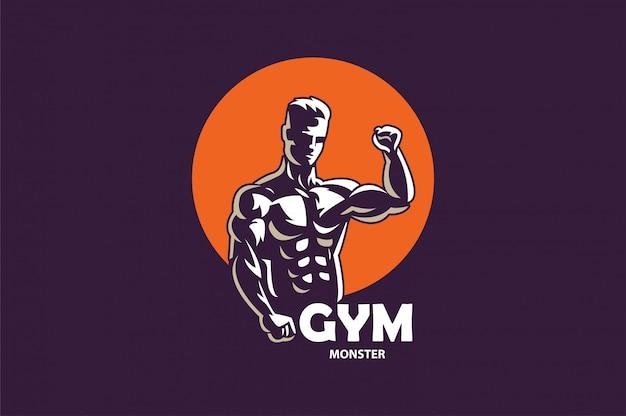 Logo de fitness gym