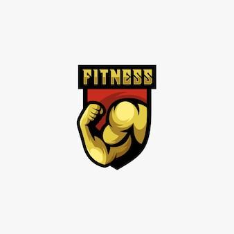 Logo de fitness homme fort.