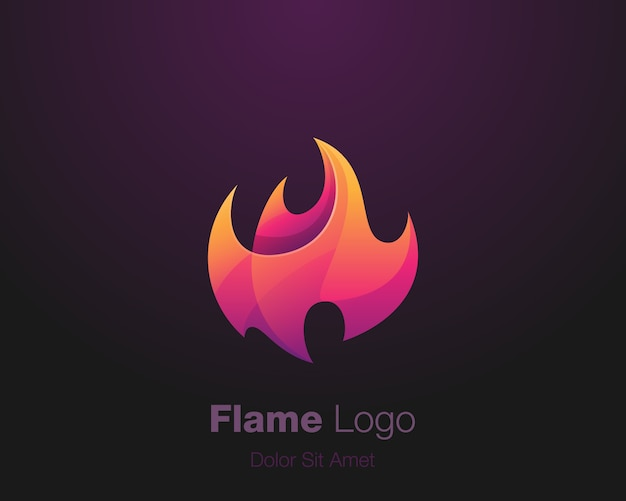 Logo de flamme abstraite