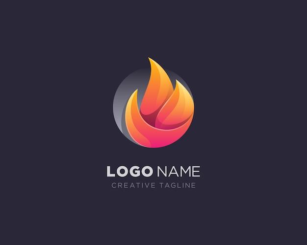 Logo de flamme de cercle