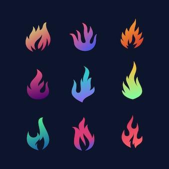 Logo flamme coloré