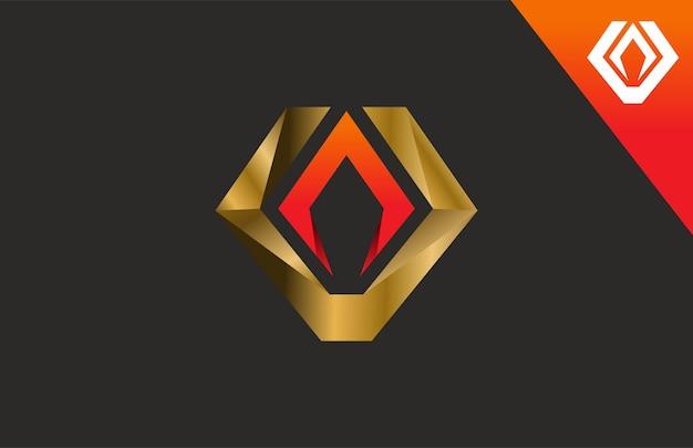 Logo de la flamme du diamant lettre v