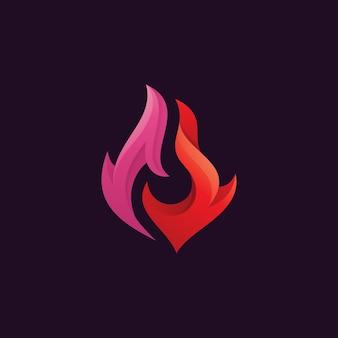 Logo de flamme de feu abstrait