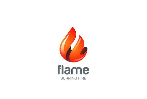 Logo de flamme de feu.