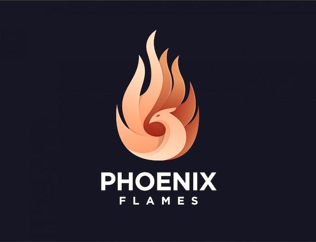 Logo de la flamme de phénix moderne
