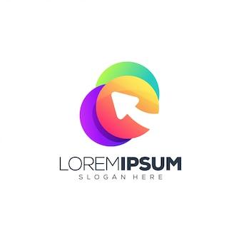 Logo flèche multicolore