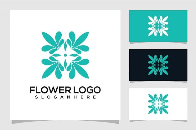Logo fleur abstrait