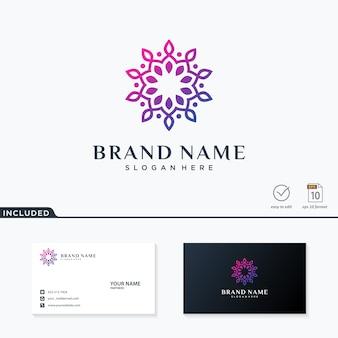 Logo fleur abstraite