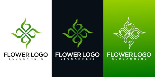 Logo de fleur abstraite