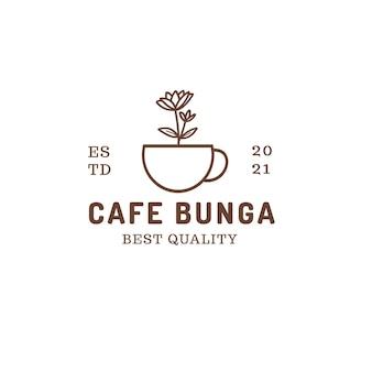 Logo de fleur de café