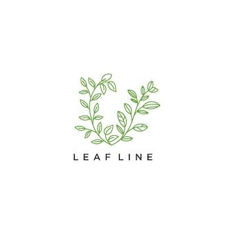 Logo de fleur dessiné avec des lignes minimales