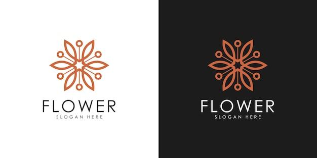 Logo de fleur élégante abstraite