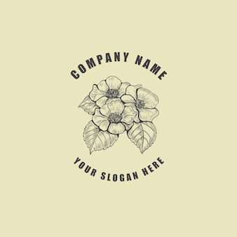 Logo de fleur de fleur