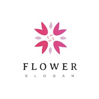 Logo de la fleur icône florale emblème floral cosmétiques spa hôtel salon de beauté symbole