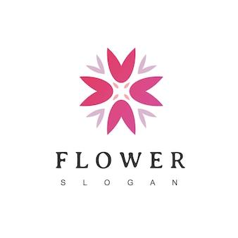 Logo de la fleur icône florale emblème floral