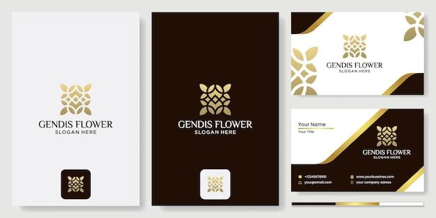 Logo de fleur, modèle de vecteur de conception de cercle abstrait icône de fleur, logo pour les cosmétiques, l'hôtel, le salon de beauté salon