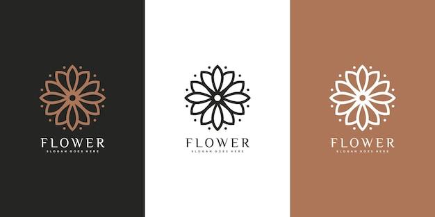 Logo de fleur de la nature