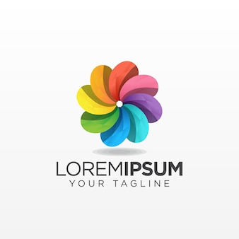 Logo de fleurs colorées