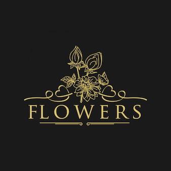 Logo de fleurs vintage
