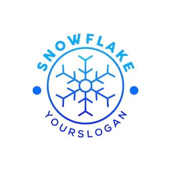 Logo de flocon de neige sur le vecteur de jour de noël
