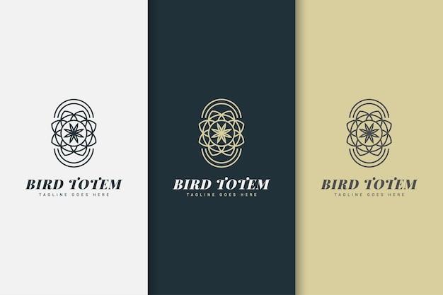 Logo floral simple abstrait dans le style de ligne pour l'identité de votre entreprise