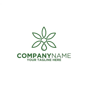 Logo fluide de cannabis