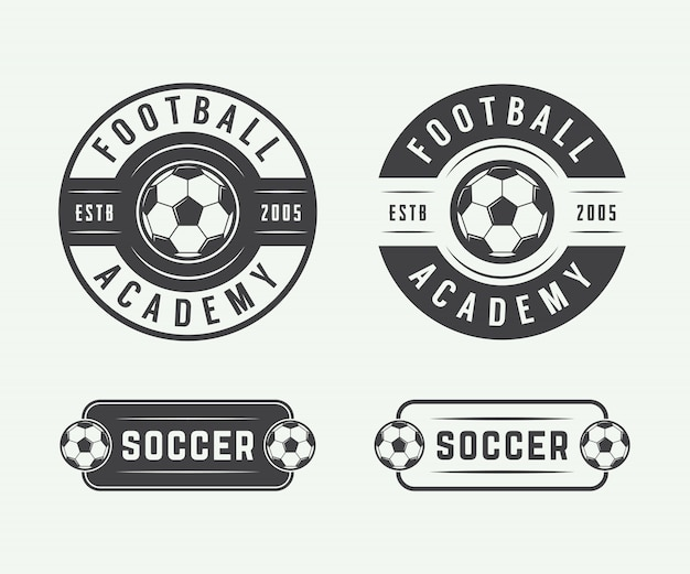 Logo de football de football, emblème, badge.