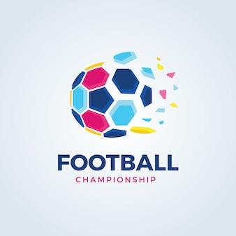 Logo de football, logo de football, logo d'équipe de sport, vectortemplate