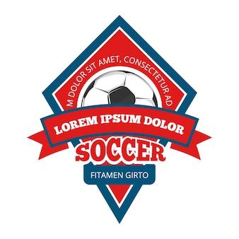 Logo de football de vecteur
