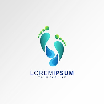 Logo footprints