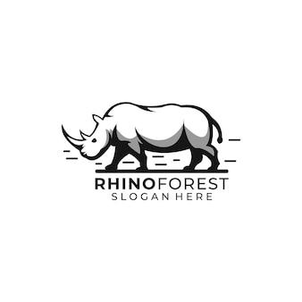 Logo de la forêt de rhinocéros