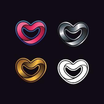 Logo de forme d'amour