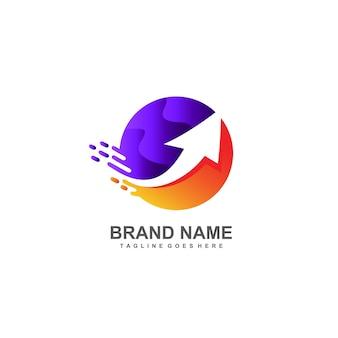 Logo en forme de flèche et de cercle