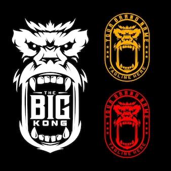 Logo fort de timbre de grands singes de kong