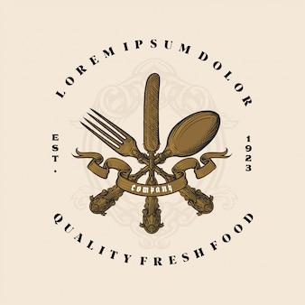 Logo fourchette, couteau, cuillère