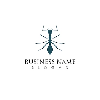Logo de fourmi et image vectorielle de symbole