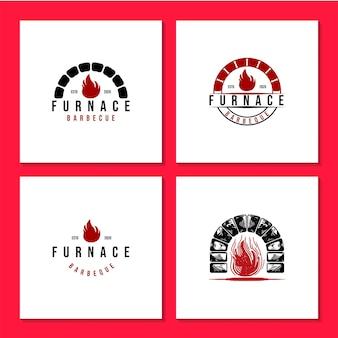 Logo de la fournaise à incendie