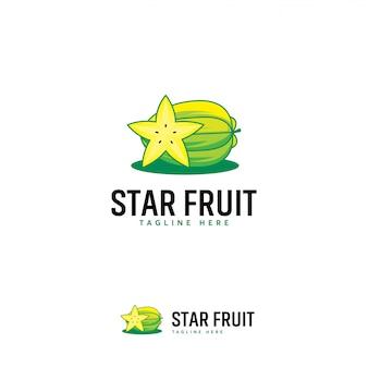 Logo de fruit étoilé, logo de fruit étoilé