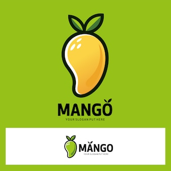 Logo de fruits de mangue