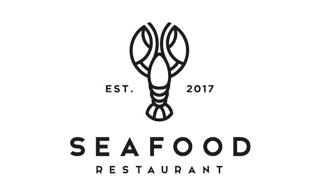 Logo de fruits de mer aux crevettes et homards