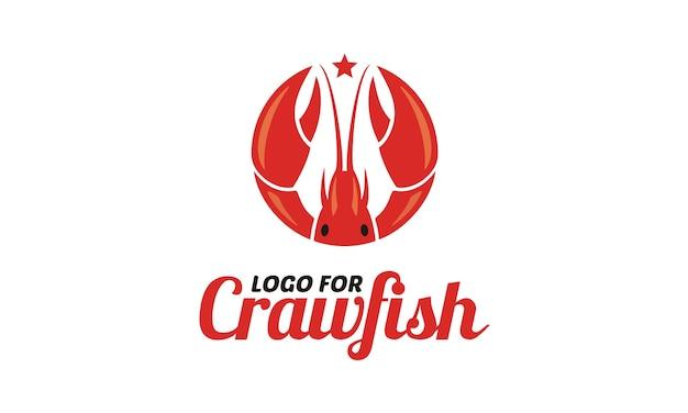 Logo de fruits de mer écrevisses / crevettes / crevettes / homard