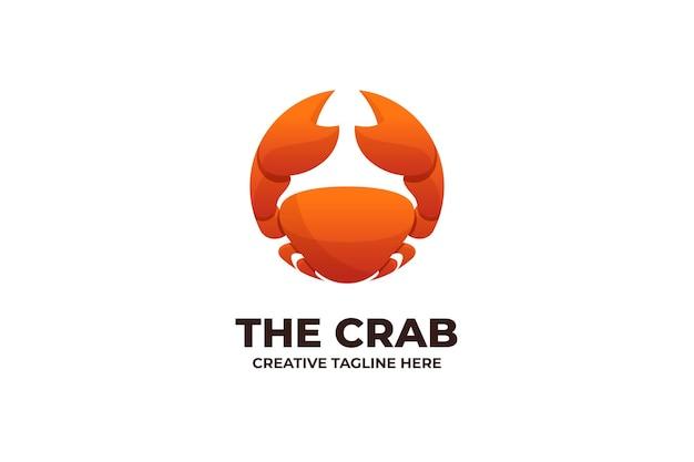 Logo de fruits de mer frais de crabe