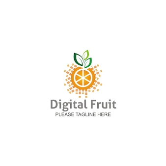 Logo de fruits numériques